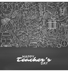 Happy Teachers Day background vector image