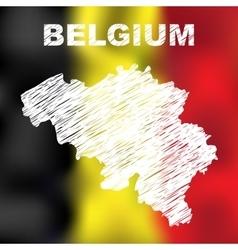 Belgian Abstract Map vector image