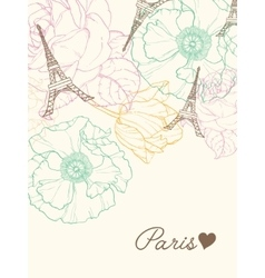 Eifel Towers Paris In Vintage Style vector image