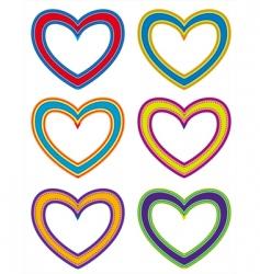 fabric hearts vector image vector image