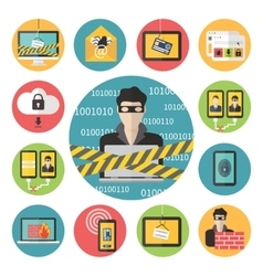 Internet web security vector image