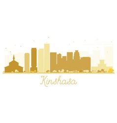 Kinshasa City skyline golden silhouette vector image vector image