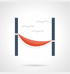 red hammock flat color icon vector image vector image