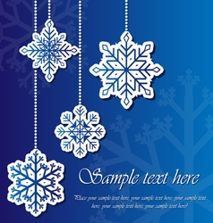 Snowflake sticker background vector image vector image