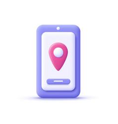 3d cartoon style minimal city map navigation vector