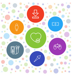 7 app icons vector