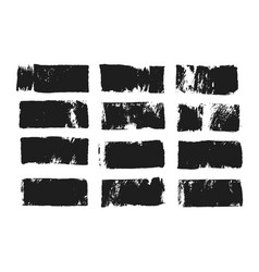 Abstract black smear of paint isolated on white vector
