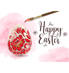 Background with easter egg and paintbrush vector