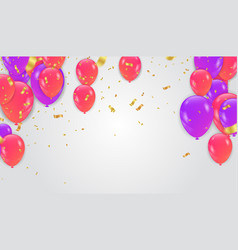 balloons colored paper in flight isolated on a vector image