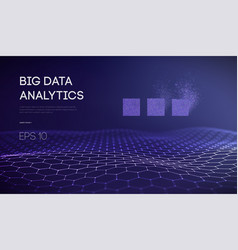 big data business inteligence technology vector image