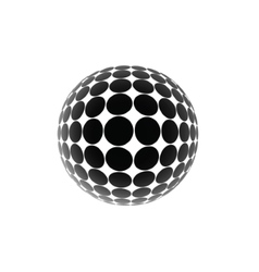 black ball vector image
