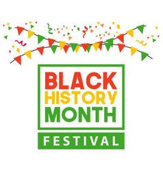 Black history month festival template design vector
