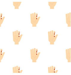 Bleeding human thumb pattern seamless vector