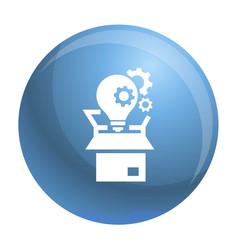 bulb gear box icon simple style vector image