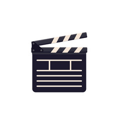 Clapboard icon flat cinema sign design vector
