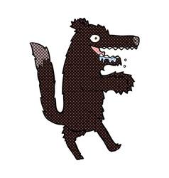 Comic cartoon big bad wolf vector