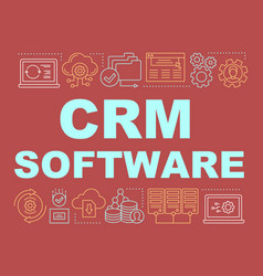 Crm software word concepts banner vector