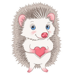 cute hedgehog character vector image