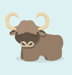 cute yak cartoon vector image