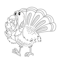 Doodle animal for turkey vector