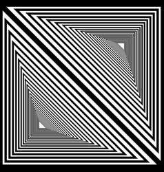 double triangular geometric striped tunnel black vector image