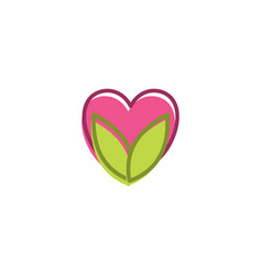 Eco love logo vector