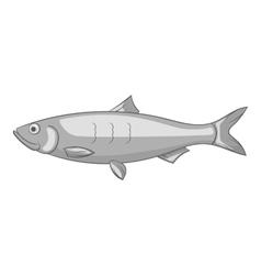 Fish icon gray monochrome style vector