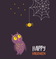 for halloween card invitation vector image