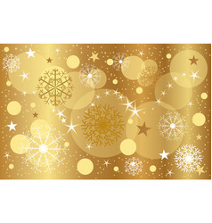 golden christmas background close-up snacks vector image