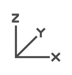 Graph statistis icon vector