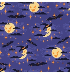 Halloween seamless pattern with moon vector