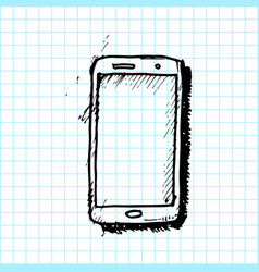 hand drawn smartphone smartphone icon design vector image
