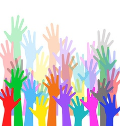 Hands crowd vector