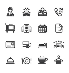 Hotel and Hotel Services Icons vector