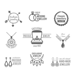 Jewelry label set vector image
