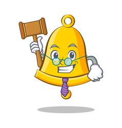 Judge school bell character cartoon vector