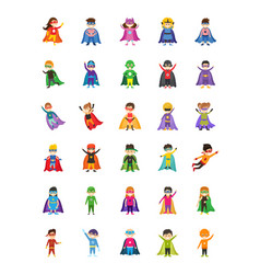 Kid superheroes cartoon vector