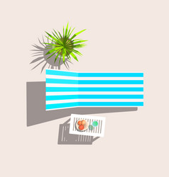 lounge and plastic table vector image