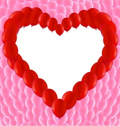 Love Heart Shaped Frame vector image