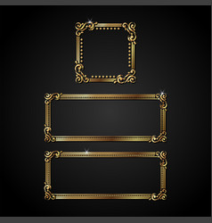 Luxury gold frame vector