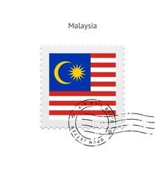 Malaysia Flag Postage Stamp vector