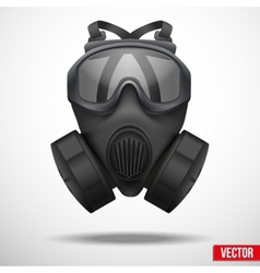 Military black gasmask respirator vector image