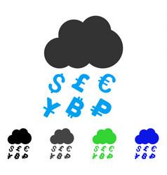 Money rain flat icon vector