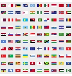new flags world set vector image