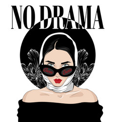 No drama hand drawn girl in vector