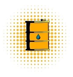 Oil barrel icon comics style vector image