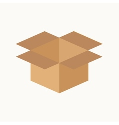 Opened cardboard package box Flat design style vector