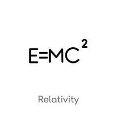 outline relativity icon isolated black simple vector image