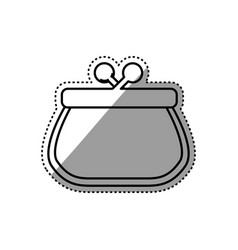 Pocketbook purse isolated vector