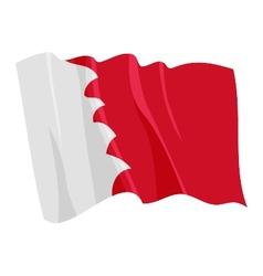 Political waving flag of bahrain vector